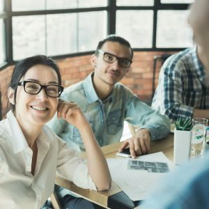 Employees Listing To Boss Share Benefits